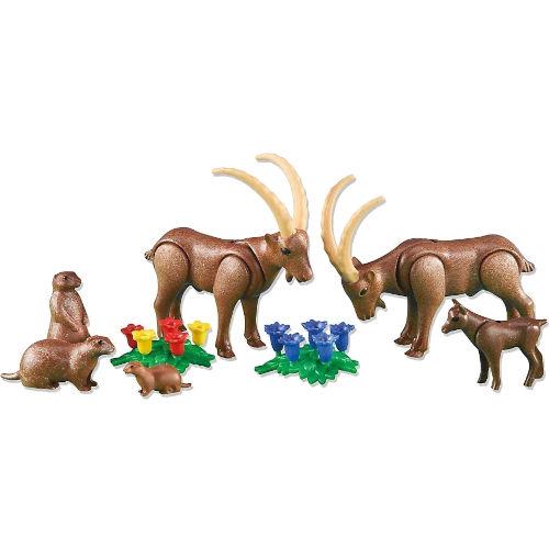 Cabras montesas y marmotas de Playmobil
