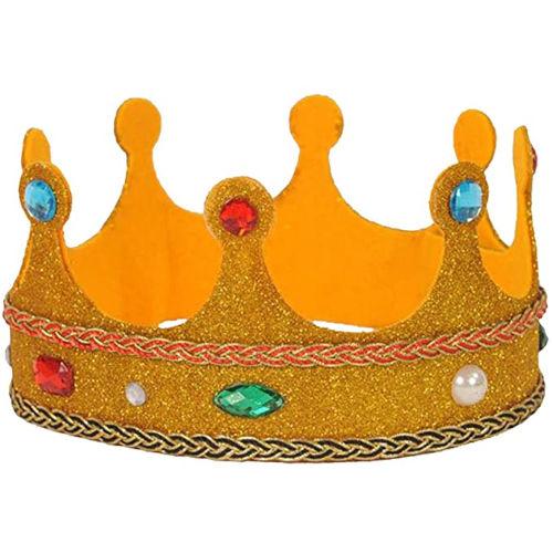 Corona para Reyes Magos de purpurina para niños