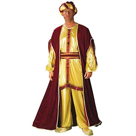 Disfraz de Rey Baltasar color dorado