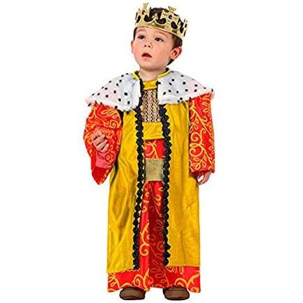 Disfraz de Rey Mago de color amarillo para bebés