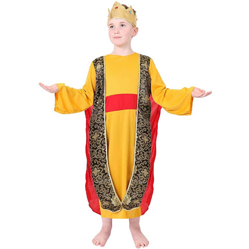 Disfraz de Rey Mago de color amarillo