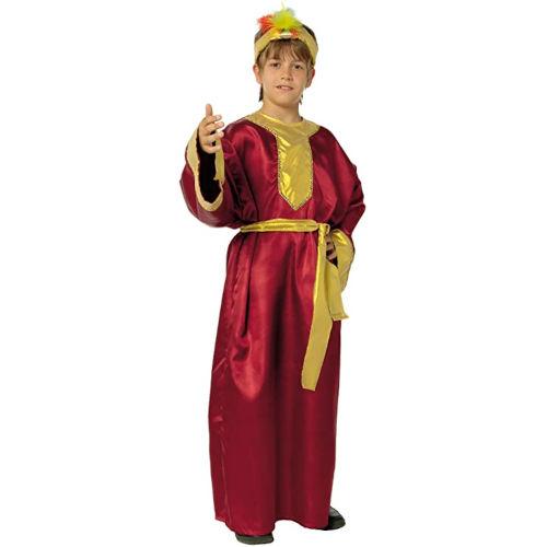 Disfraz de Rey Mago de color burdeos