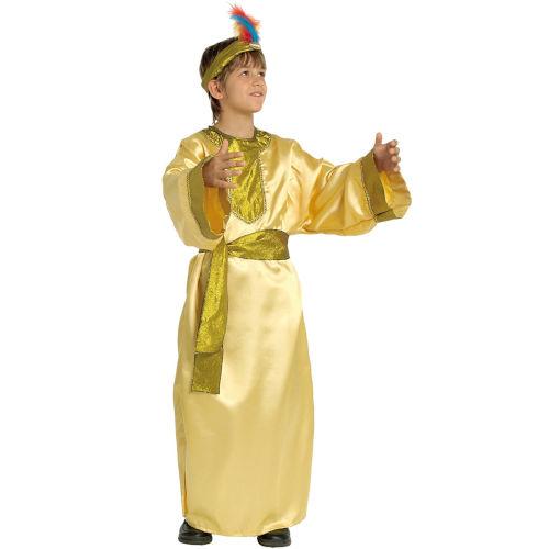Disfraz de Rey Mago dorado para niños