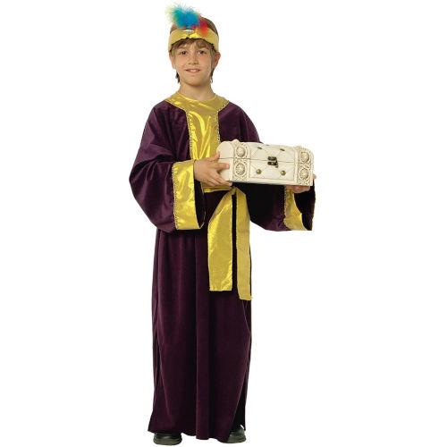 Disfraz de Rey Mago malva para niño