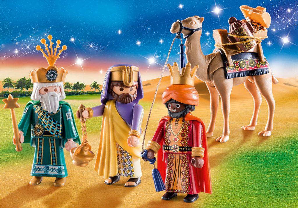 Escena de los Reyes Magos de Playmobil