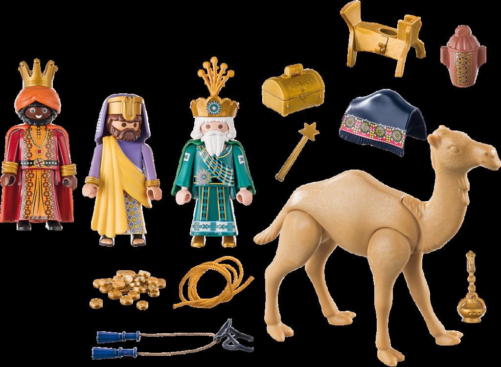 Piezas incluidas en los Playmobil de los Reyes Magos