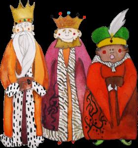 Los Reyes Magos, obra de Montse Mayol