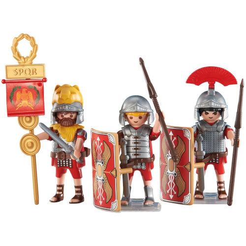 Tres soldados romanos de Playmobil